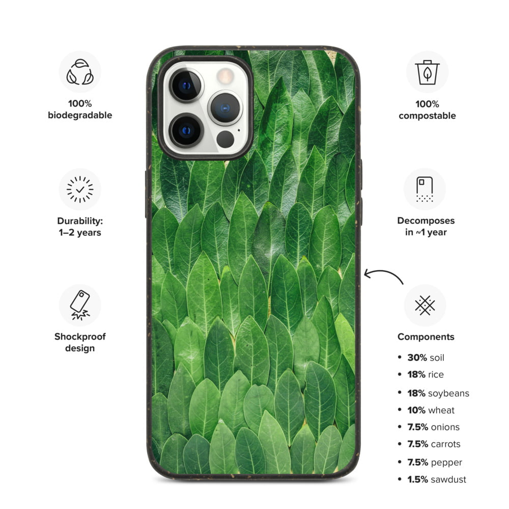 Marching Leaves Bio Degradable Vegan iPhone Case
