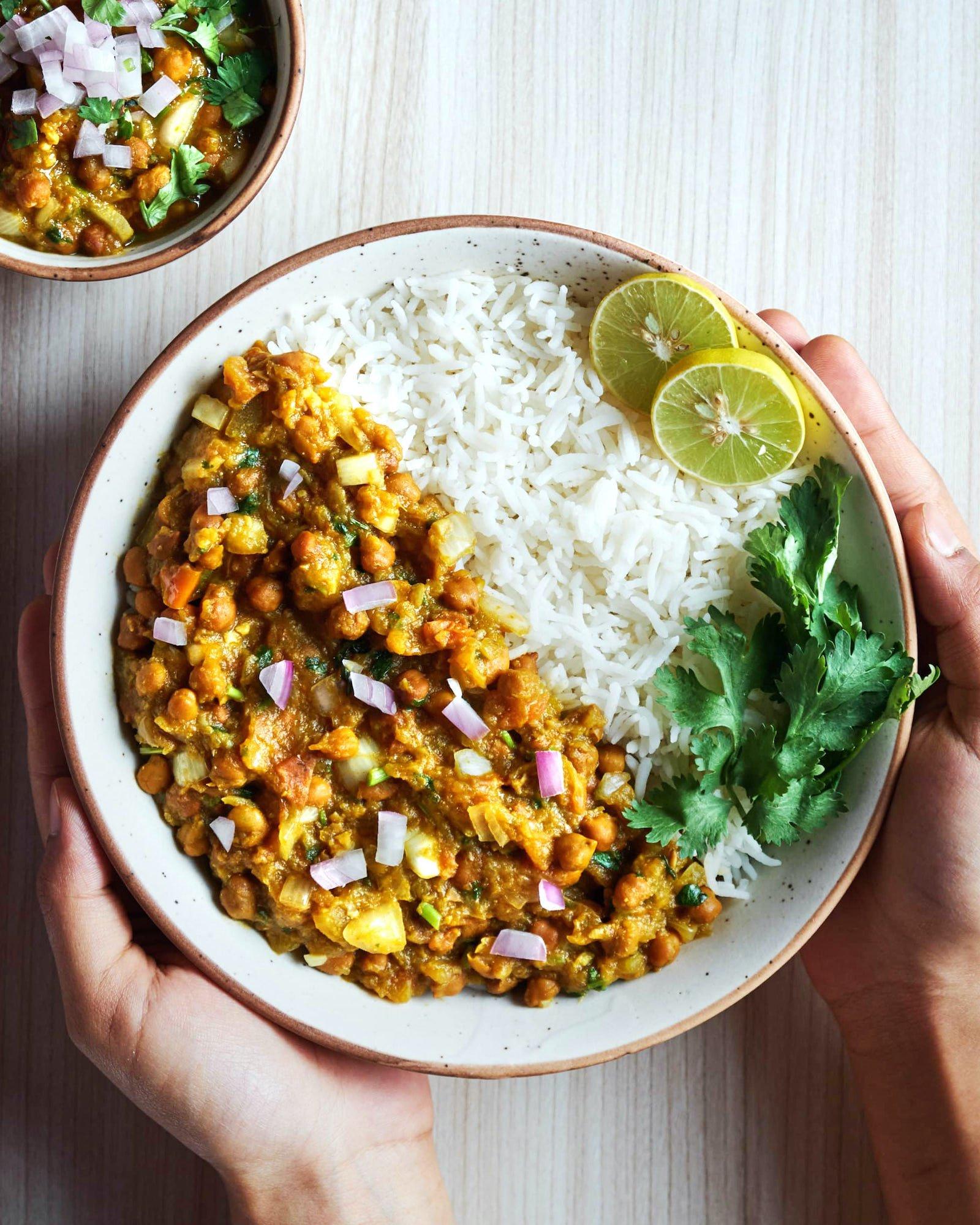 Pumpkin Chana Curry