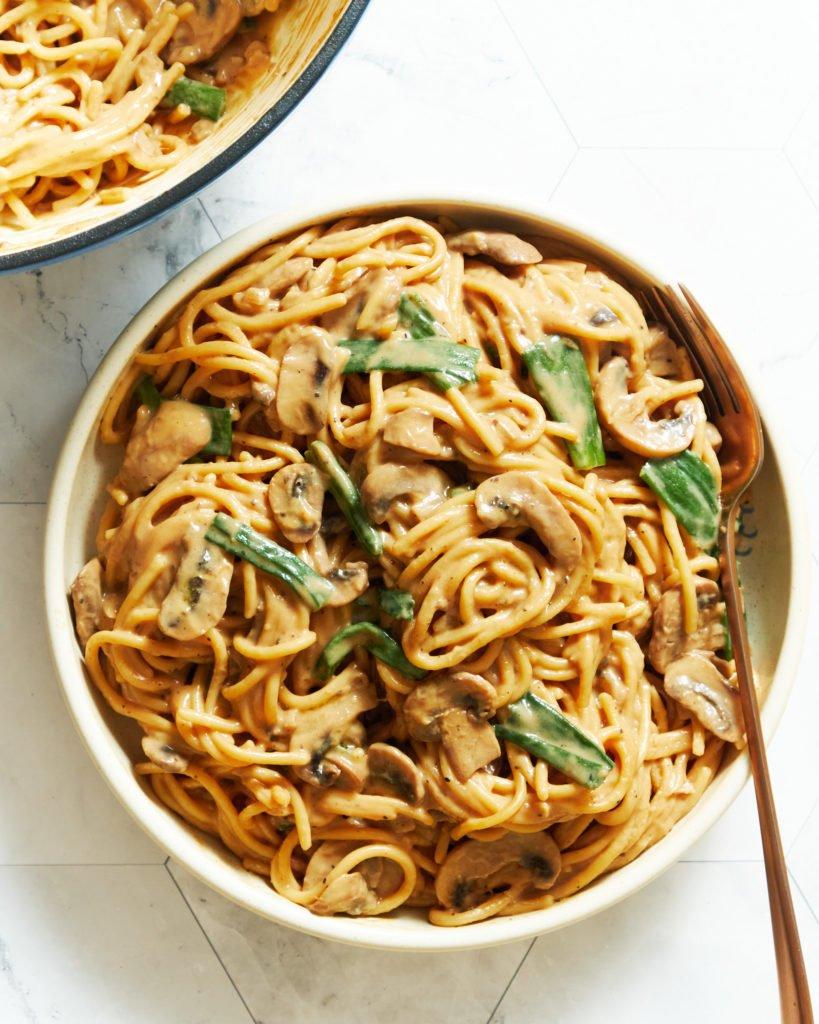 Creamy Miso Mushroom Pasta