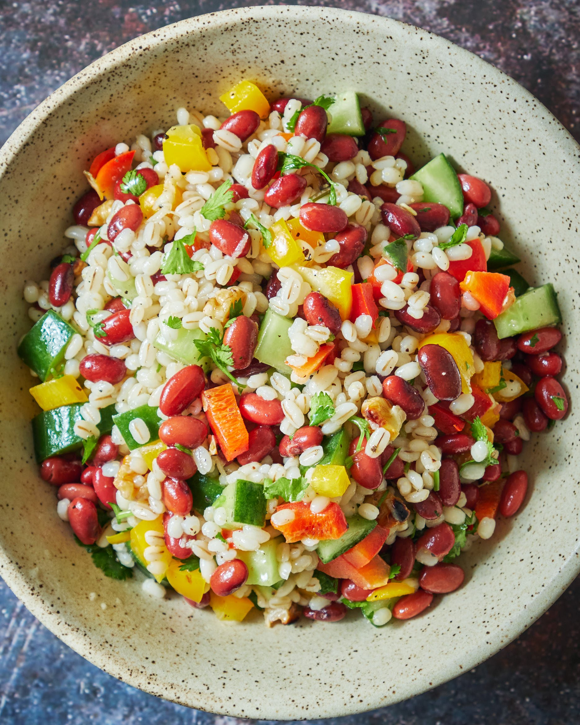 Pearl Barley Salad (with Red Beans)