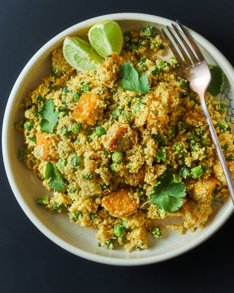 Curried Cauliflower Rice